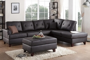 Beaufort Brown Leather Sectional Sofa