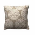 Beige Fabric Accent Pillow