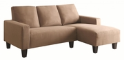 Sothell Beige Fabric Sectional Sofa
