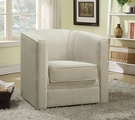Beige Fabric Swivel Chair