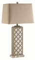 Beige Fabric Table Lamp