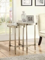 Beige Glass Nesting Table