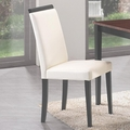 Beige Leather Dining Chair