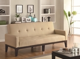 Beige Leather Sofa Bed