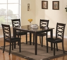 Bentley Brown Cherry Wood Dining Table Set