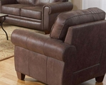 Bentley Brown Fabric Chair