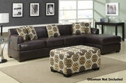Berko Reversible Dark Chocolate Sectional Sofa