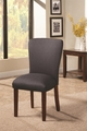 Black Fabric Dining Chair