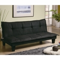 Black Fabric Full Size Sofa Bed