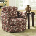 Black Fabric Swivel Chair