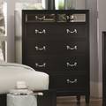 Black Glass Chest of Drawers