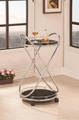 Black Glass Serving Cart