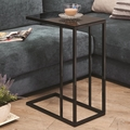 Black Glass Snack Table