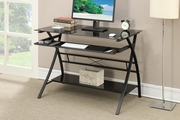 Black Glass Writing Desk