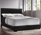 Black Leather California King Size Bed