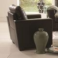 Enright Black Leather Chair