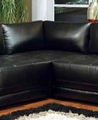 Black Leather Corner Chair