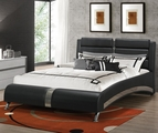 Black Leather Eastern King Size Bed