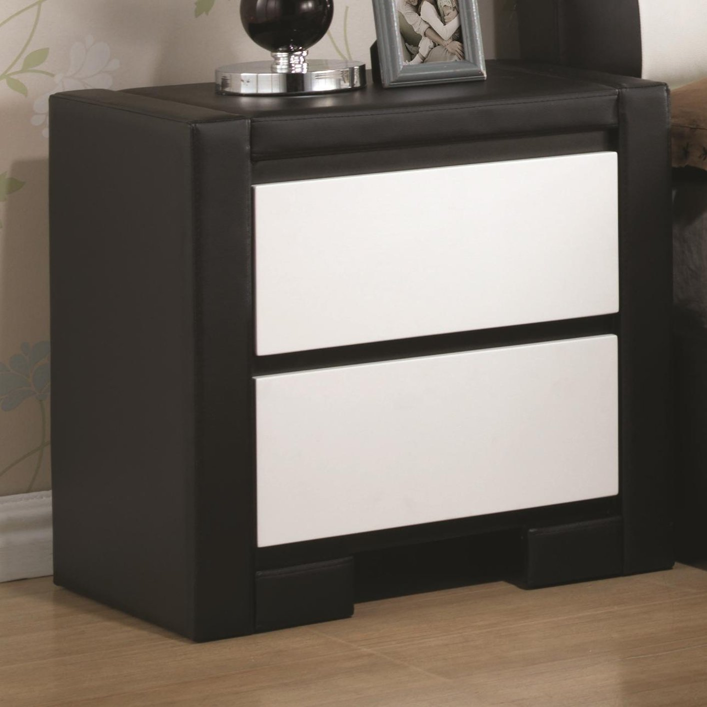 Kimball Bedroom Furniture Coaster 203332 Black Leather Nightstand Steal A Sofa Furniture