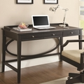 Black Leather Office Desk
