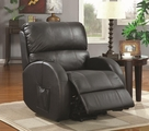 Black Leather Power Reclining Chair