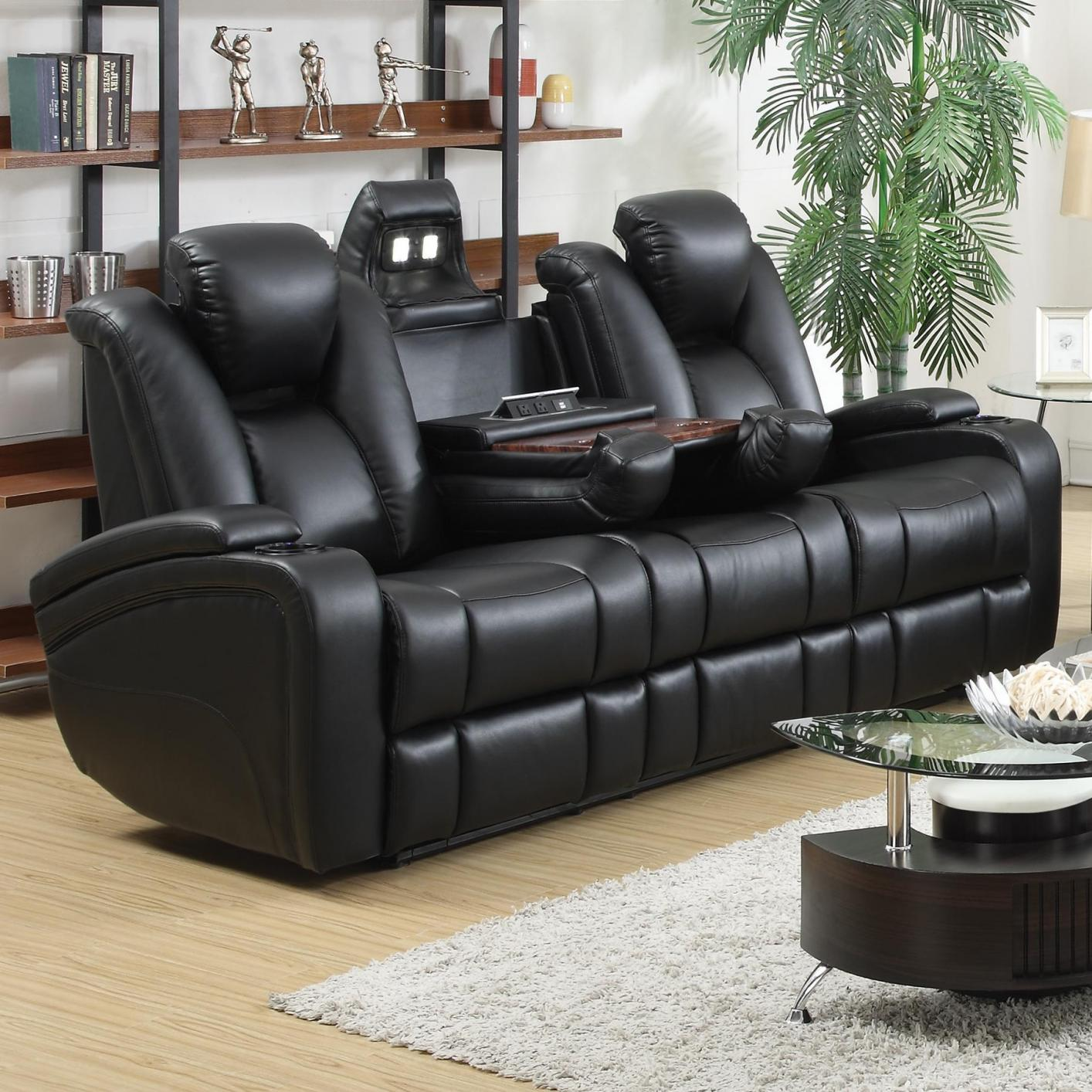 601741p black leather power reclining sofa steal a sofa furniture