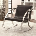Black Leather Rocking Chair