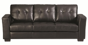 Enright Black Leather Sofa
