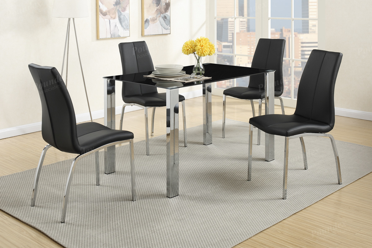 black metal dining table and chair set - Metal Dining Room Chairs