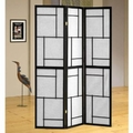Black Metal Folding Screen