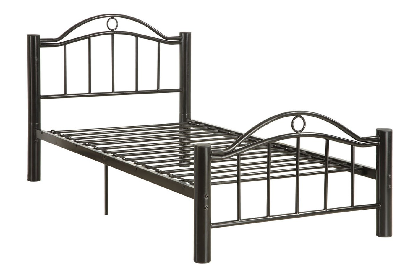 Poundex F9010f Black Full Size Metal Bed Steal A Sofa