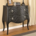Black Wood Accent Cabinet