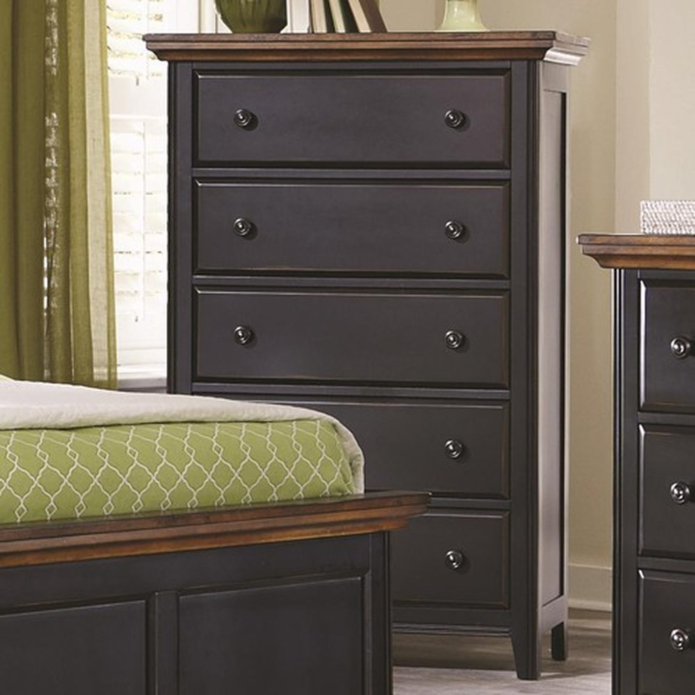 Coaster 203155 Black Wood Chest Of Drawers Steal A Sofa