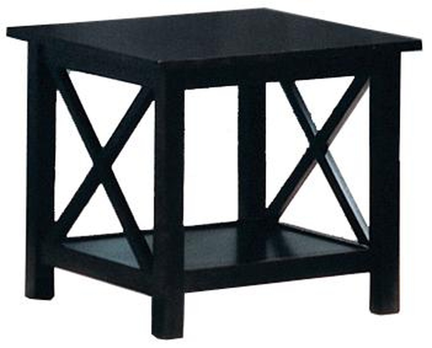 Black and wood coffee table -  Black Wood Coffee Table Set