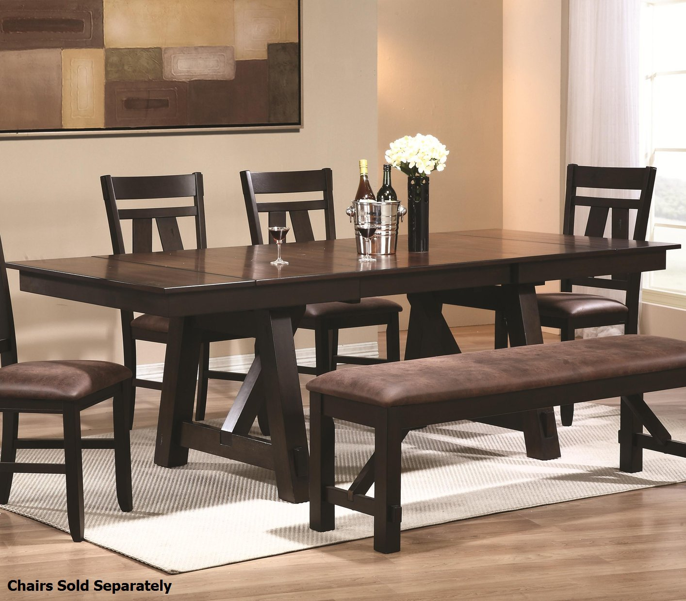 Wood And Black Dining Table: Coaster 102651 Black Wood Dining Table