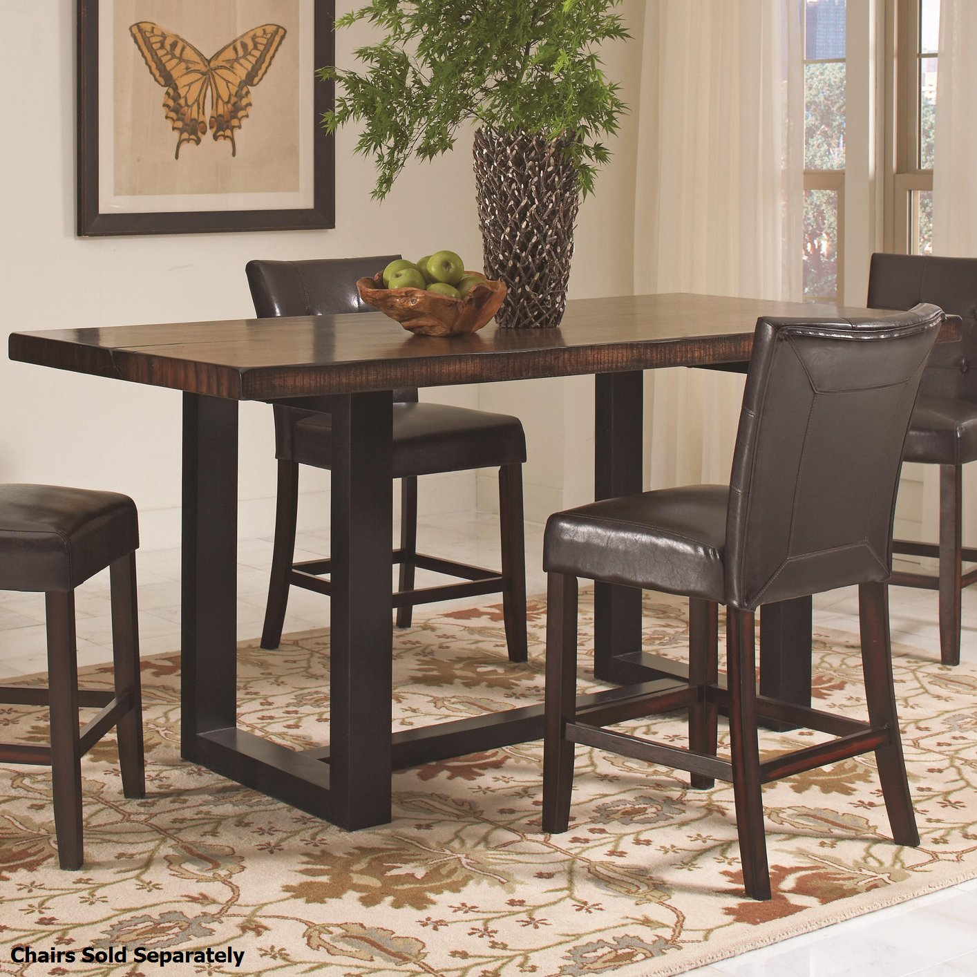 Coaster 121648 Black Wood Dining Table Steal A Sofa Furniture Outlet Los An