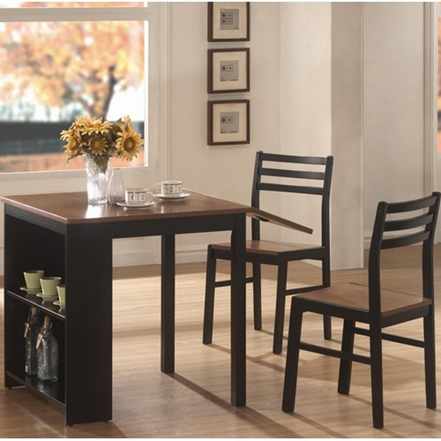 130015 black wood dining table and chair set steal a sofa furniture