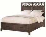 Black Wood Eastern King Size Bed