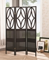 Black Wood Folding Screen