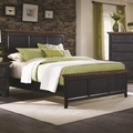 Black Wood Full Size Bed