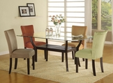 Bloomfield Cappuccino Wood And Glass Dining Table