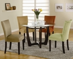 Bloomfield Deep Cappuccino Wood And Glass Dining Table Set