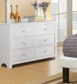 Blossom White Wood Dresser