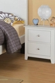 Blossom White Wood Nightstand