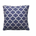 Blue Fabric Accent Pillow