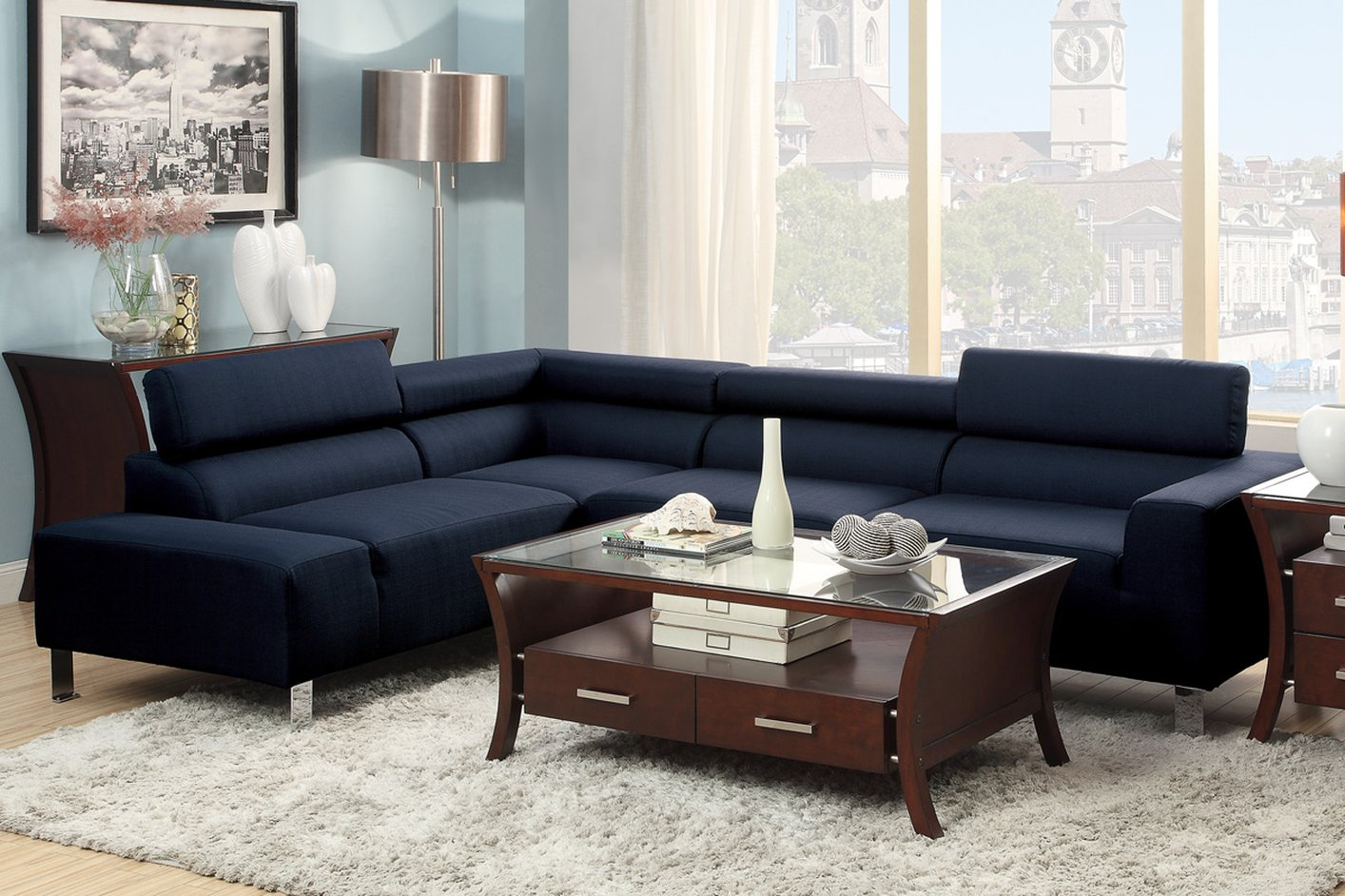 dark blue sofa set sofas cheap chairs living room furniture