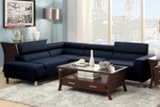 Blue Fabric Sectional Sofa