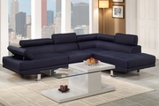 Jezebel Blue Fabric Sectional Sofa