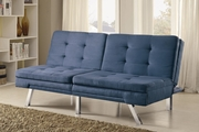 Blue Fabric Sofa Bed