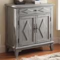 Blue Wood Accent Cabinet